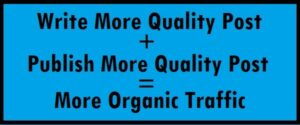 The easiest formula to drive organic traffic to your new blog in 2020